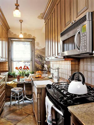 small kitchen wood cabinets, Country Living