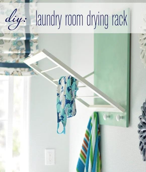 small laundry room - diy drying rack, Centsational Girl