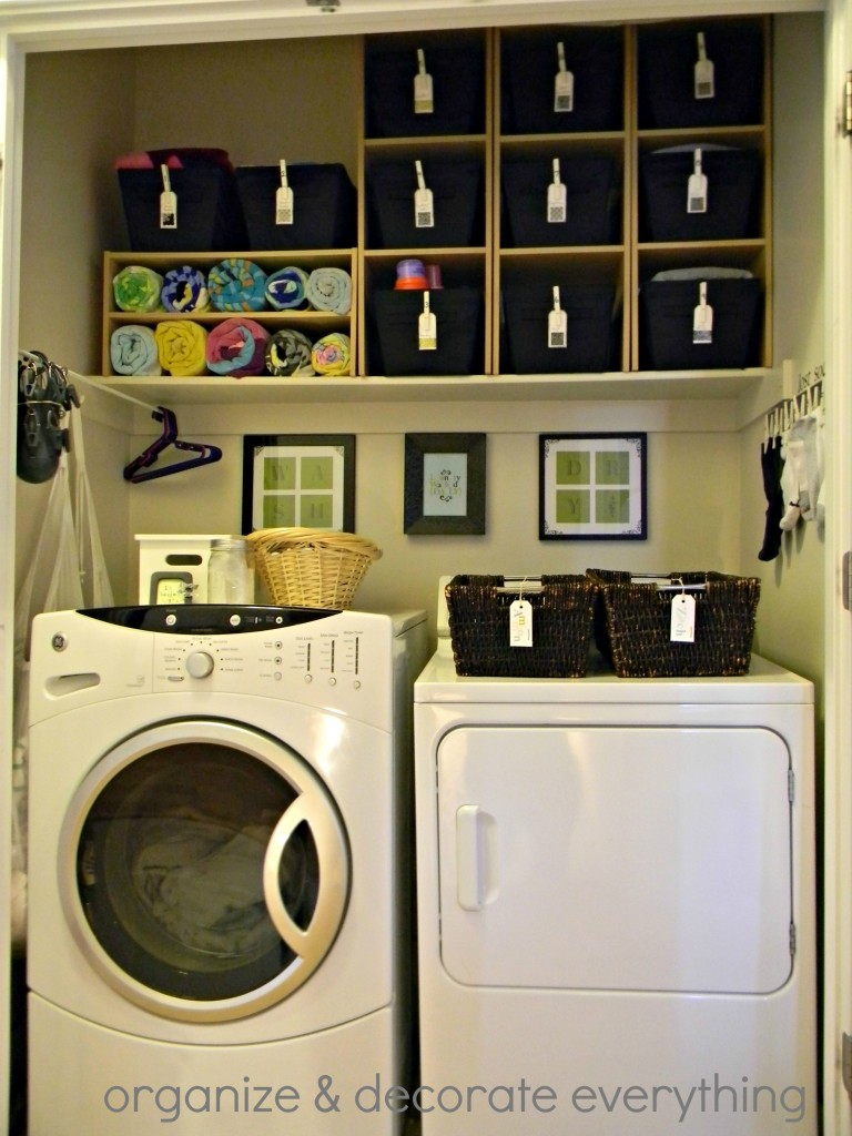 Remodelaholic | 25+ Ideas for Small Laundry Spaces on Laundry Room Organization Ideas  id=17604