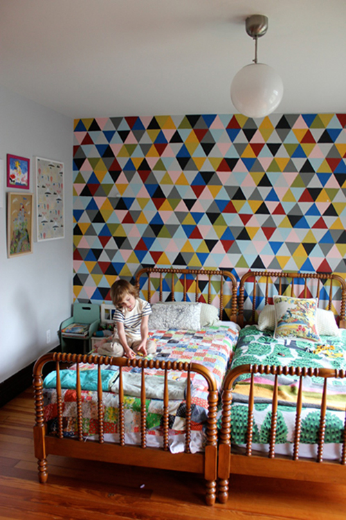 trangle painted wall idea