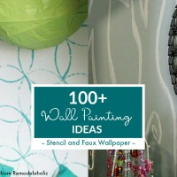 Wall Painting Ideas, Stencil, Faux Wallpaper From Remodelaholic Thumbnail