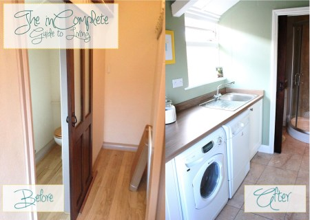 laundry room reveal, Incomplete Guide to Living