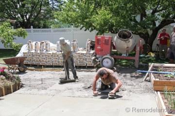 DIY concrete patio part two-15-2