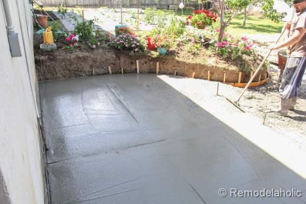 diy concrete patio part two 7 2 - Diy Concrete Patio