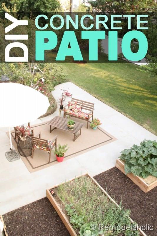 How To Install A DIY Concrete Patio on Diy Concrete Patio Ideas id=57629