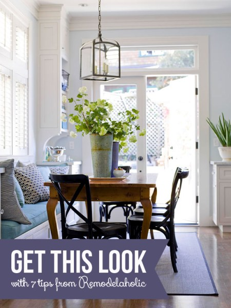 Get This Look - Built-in Banquette Bench - Tips for a Casual Banquette from Remodelaholic