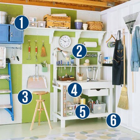 Get This Look - Simple Tips for Garage Organizing from Remodelaholic