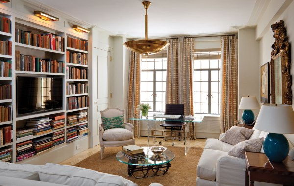 Library, Art Deco Apartment in the El Dorado NYC | Design by Design Development NYC | Photography by Trevor Tondro | featured at Remodelaholic.com #artdeco #design #decor #nyc