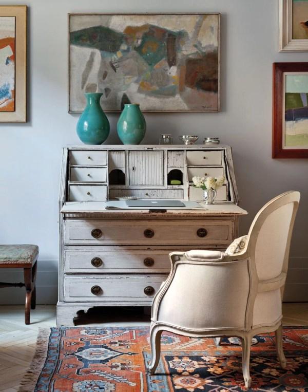Secretary Desk, Art Deco Apartment in the El Dorado NYC | Design by Design Development NYC | Photography by Trevor Tondro | featured at Remodelaholic.com #artdeco #design #decor #nyc
