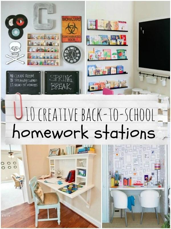 Top Ten Creative Homework Station Ideas Remodelaholic