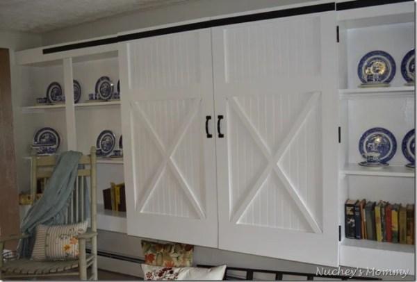 barn door inspired closet doors, Four Generations One Roof
