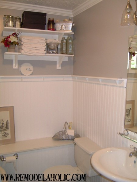 beadboard wainscoting with ledge, Remodelaholic