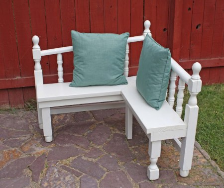bench from headboard and footboard, Running With Scissors