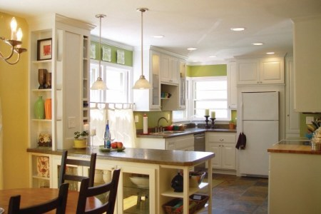 best kitchen remodel ideas -- gutted kitchen renovation with new lighting, Balancing Home on Remodelaholic