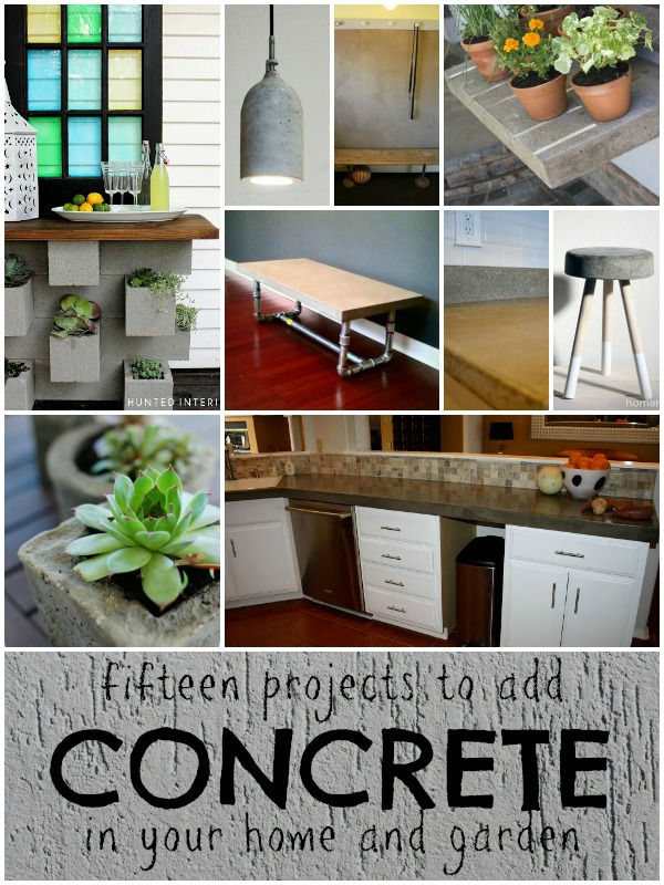 concrete projects for the home and garden from Remodelaholic