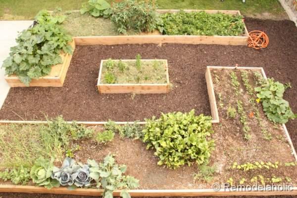 Des idées sur la façon de mettre en place un jardin surélevé sur le lit présenté sur remodelaholic.com