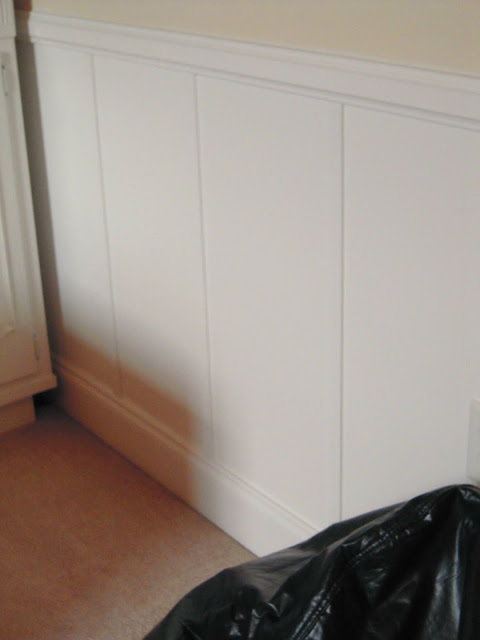 decorative wall panel wainscoting, My Cottage Charm on Remodelaholic