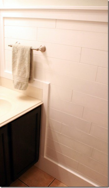 easy plank wall wainscoting, Remodelaholic