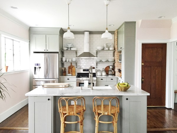 Grey Ikea Kitchen Cabinets In Kitchen Renovation, Carpendaughter Featured On Remodelaholic