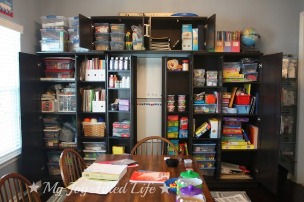 homeschool room, My Joy-Filled Life