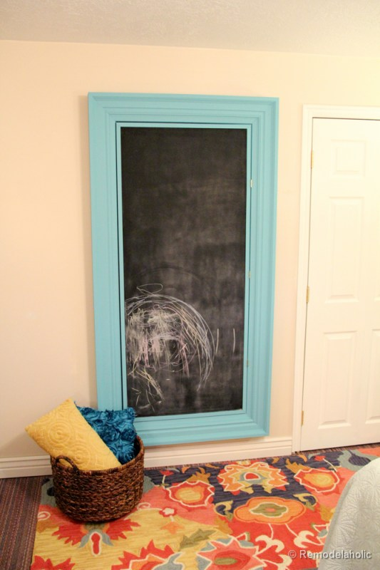 how to build a large chunky frame for a chalkboard-49
