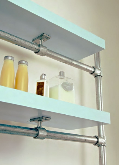 industrial style floating DIY shelving, Simplified Building