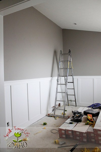 inexpensive board and batten wainscot, Small Town Idaho Life on Remodelaholic