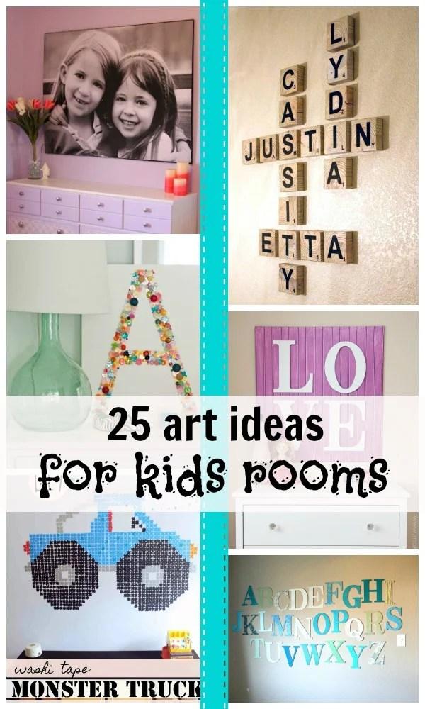 Remodelaholic 25 Art Ideas For Kids Rooms