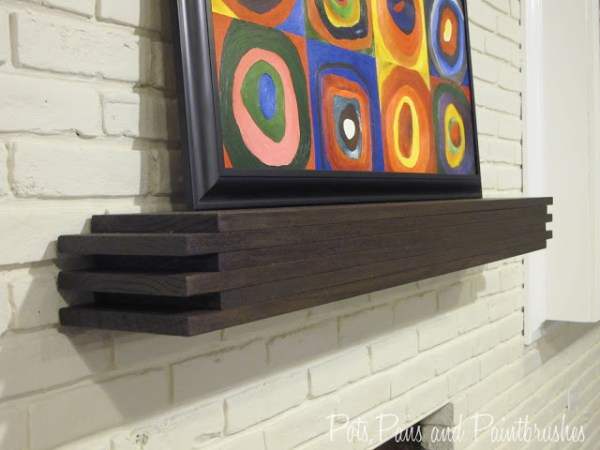 Modern Floating Mantel Shelf Remodelaholic