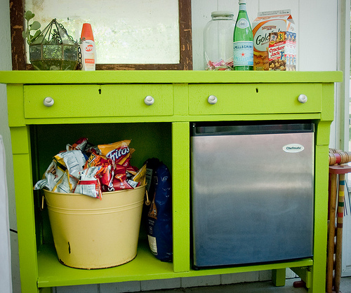 Create your own self serve coffee bar remodelaholic - Table snack bar but ...