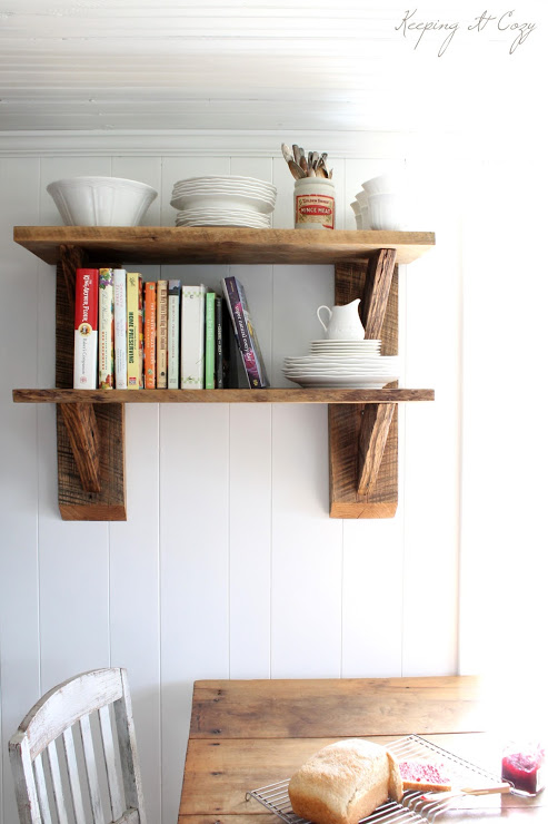 reclaimed wood diy kitchen shelves, Keeping It Cozy