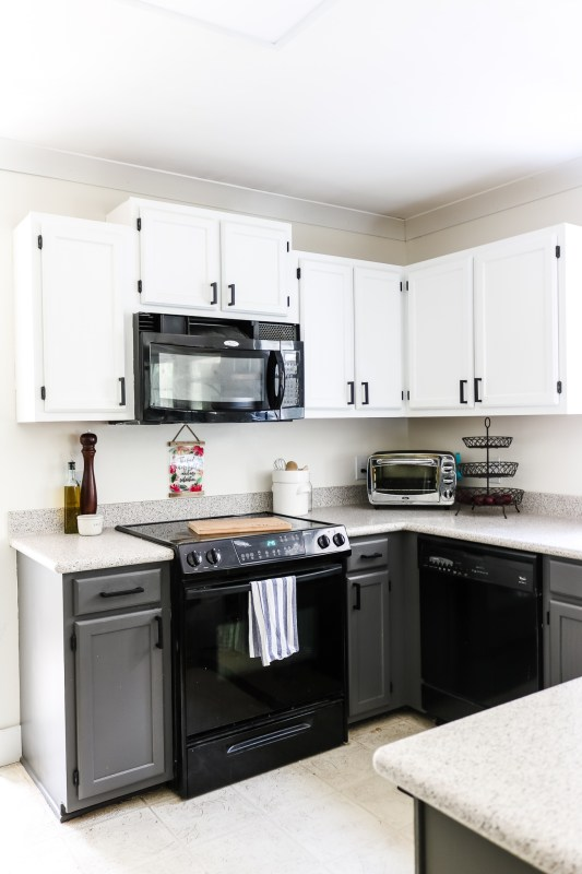 Small Grey And White Kitchen With Painted Cabinets, Living Letter Home