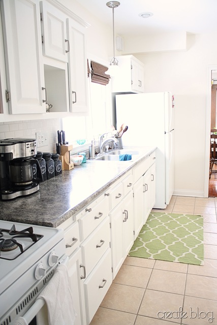 thrifted white kitchen cabinets