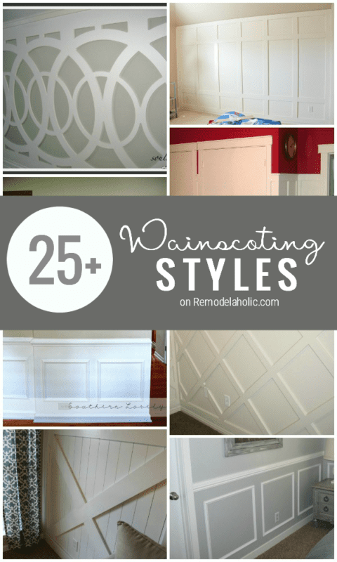 The Ultimate Guide to Wainscoting: 25+ wainscoting ideas and styles   Remodelaholic.com #wainscoting #inspiration #design #walls @Remodelaholic
