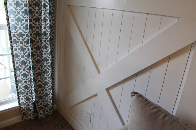 wainscoting inspired by barn door