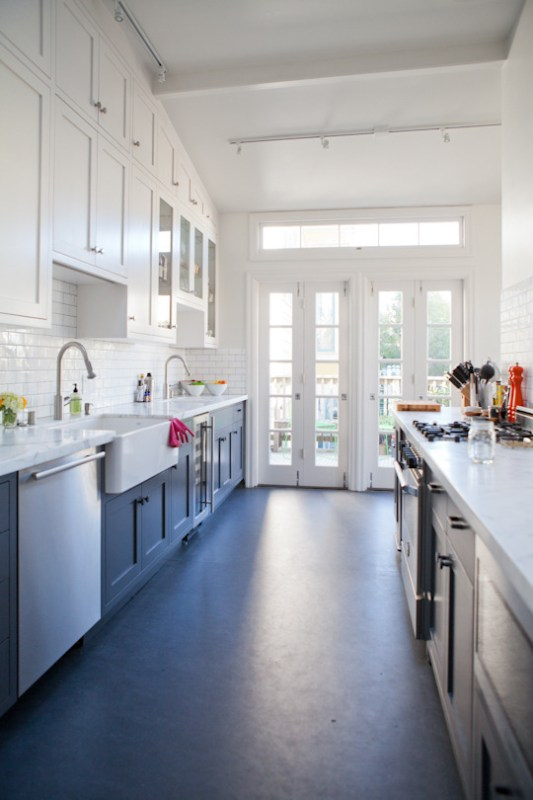 white and color cabinets