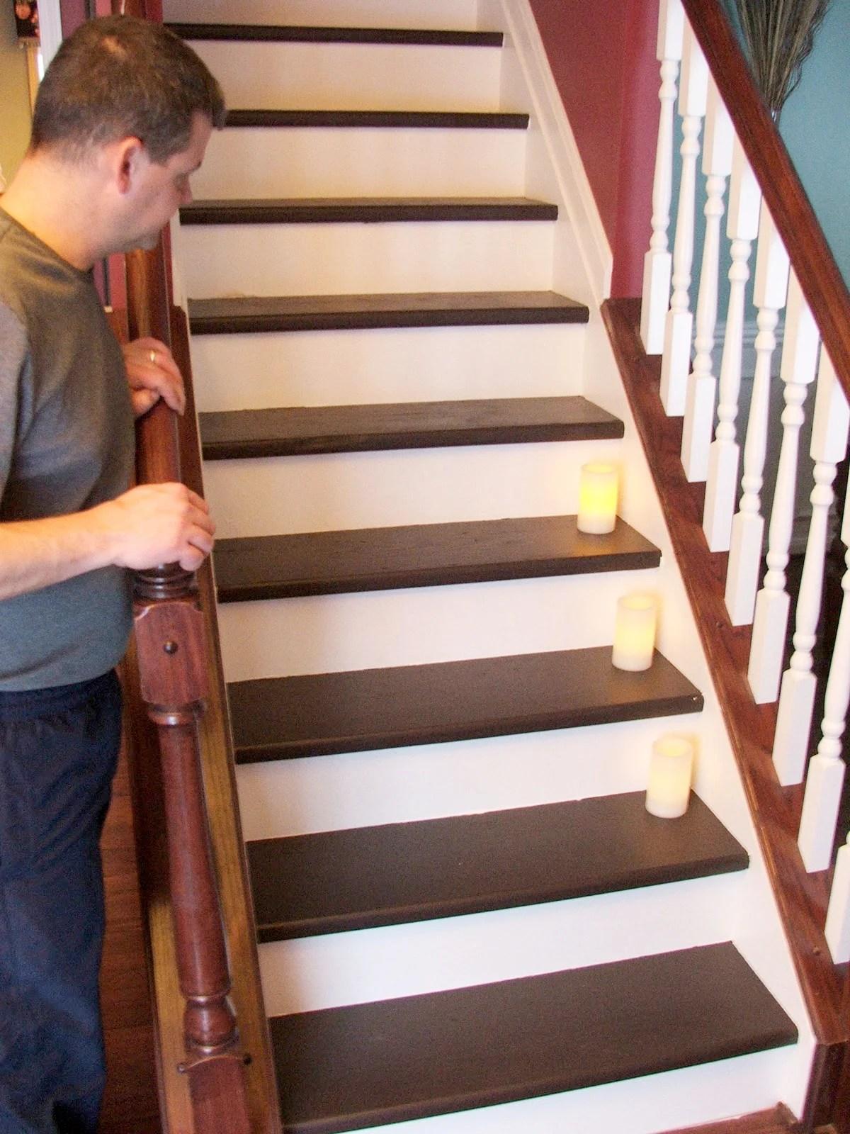 Painted Wood Stair Remodel Remodelaholic