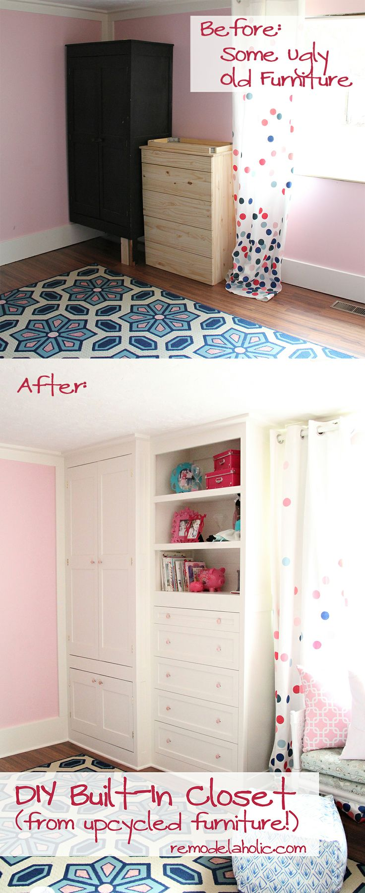 From old furniture to built in closet