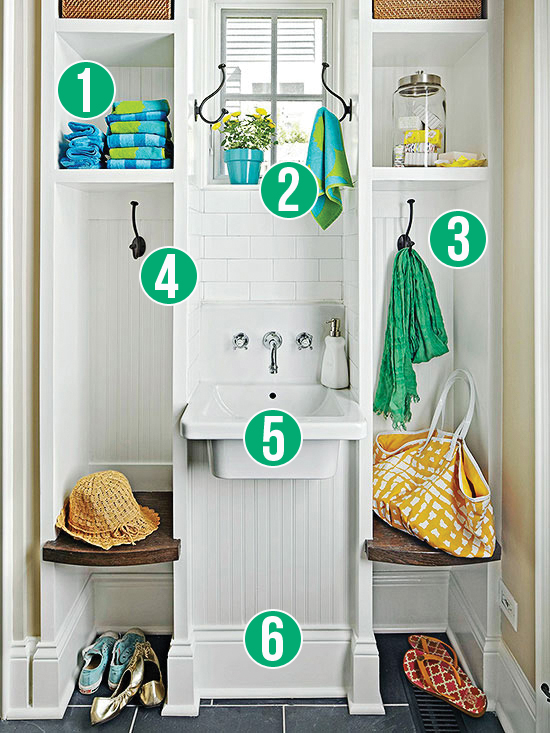 Get This Look - Back Entry Washroom and Drop Zone - 6 tips from Remodelaholic.com