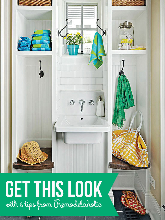 Get This Look - Back Entry Washroom and Drop Zone on Remodelaholic.com