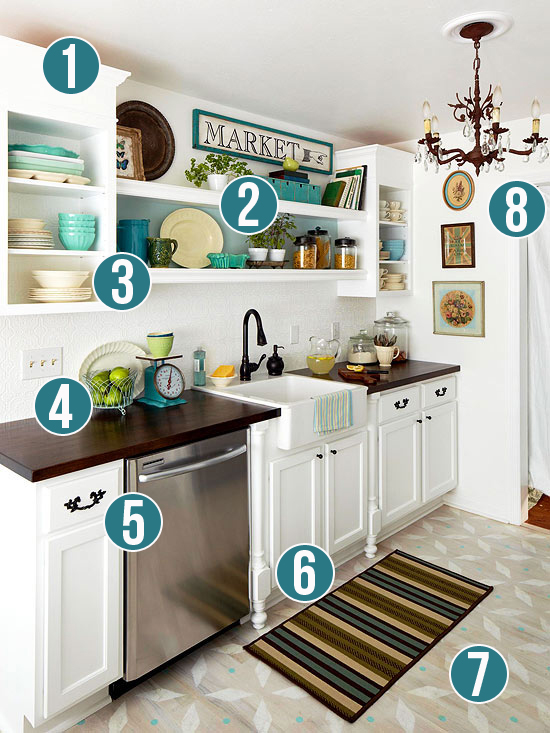 Get This Look: Luxury and Style in a Small Kitchen   Remodelaholic.com #getthislook #smallkitchen #decorating #tips @Remodelaholic