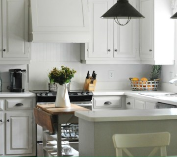 How To Design A Warm White Kitchen via Tipsaholic.com