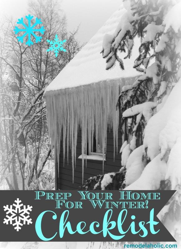 Winter home checklist