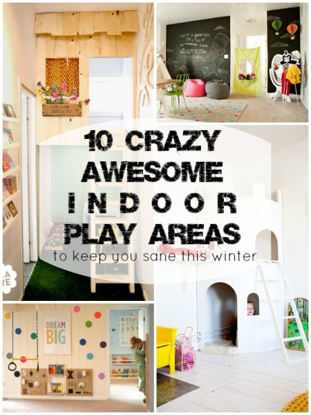 awesome indoor play areas via Remodelaholic.com