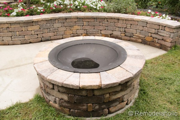 Diy rumblestone seat wall and fire pit kit installation diy seat wall and fire pit kit 44 solutioingenieria Image collections