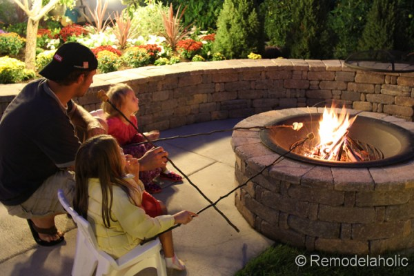 diy seat wall and fire pit kit