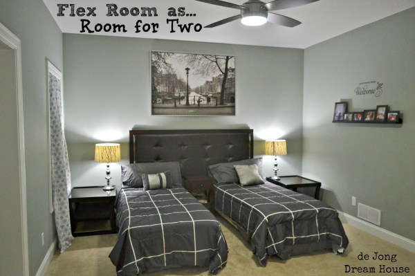 3-in-1 Flex Room: Guest Suite, Play Room, and Room for Two | featured at Remodelaholic.com #flexroom #guestroom #playroom @Remodelaholic