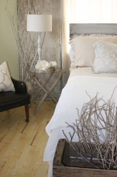 natural rustic bedroom, Salvage Dior