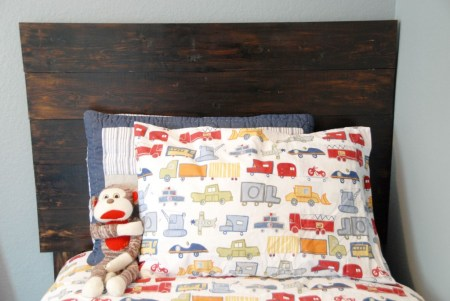 $30 rustic headboard, The Rozy Home