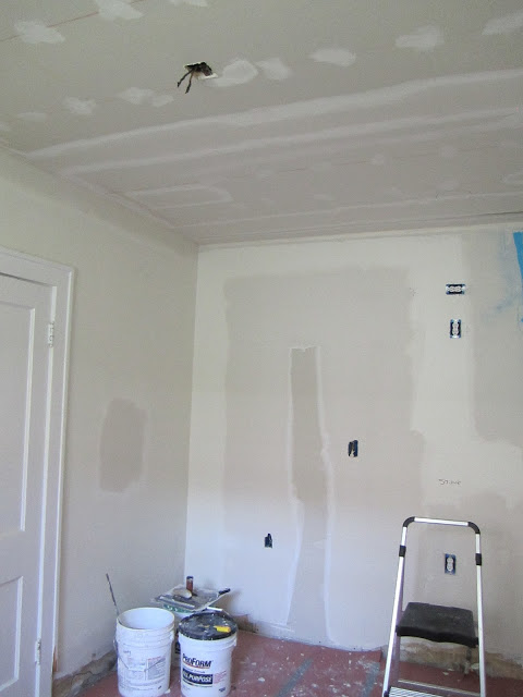 small kitchen remodel, replacing drywall